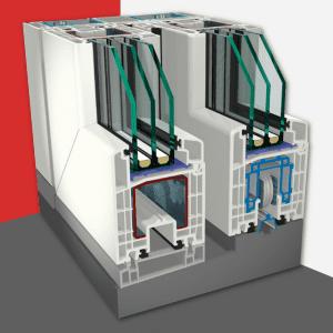 Zdvižno-posuvný systém<br>Gealan S 9000 HST